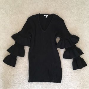 Odemai Black Bell Sleeve Sweater Size 1